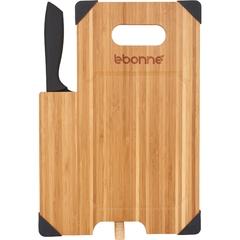 Planche à découper en Bambou avec couteau