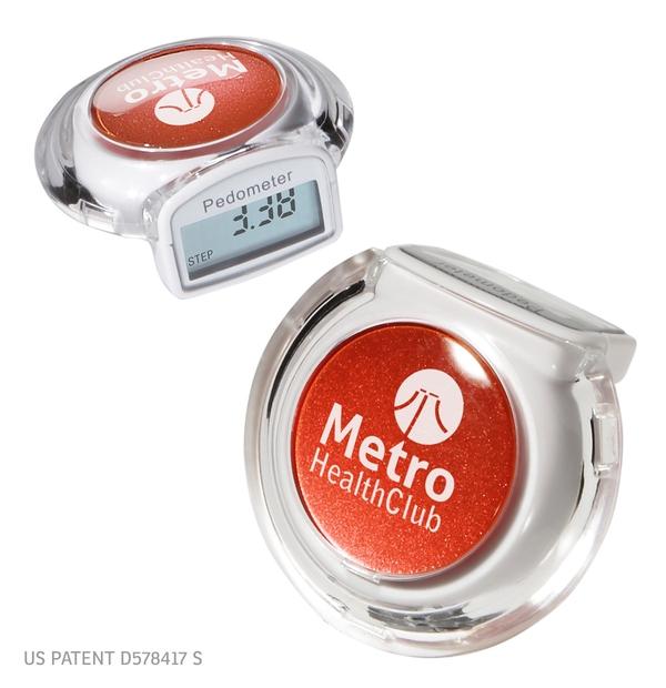 Podomètre multifonctions avec boîtier transparent élégant