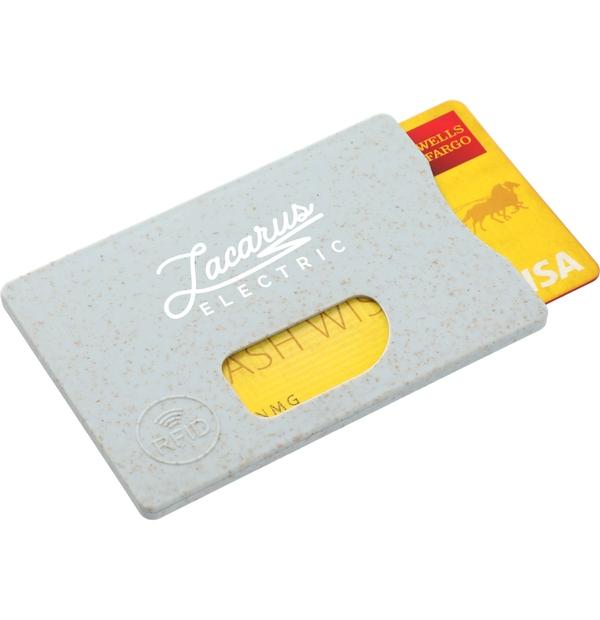 Porte-cartes RFID en tige de paille de blé