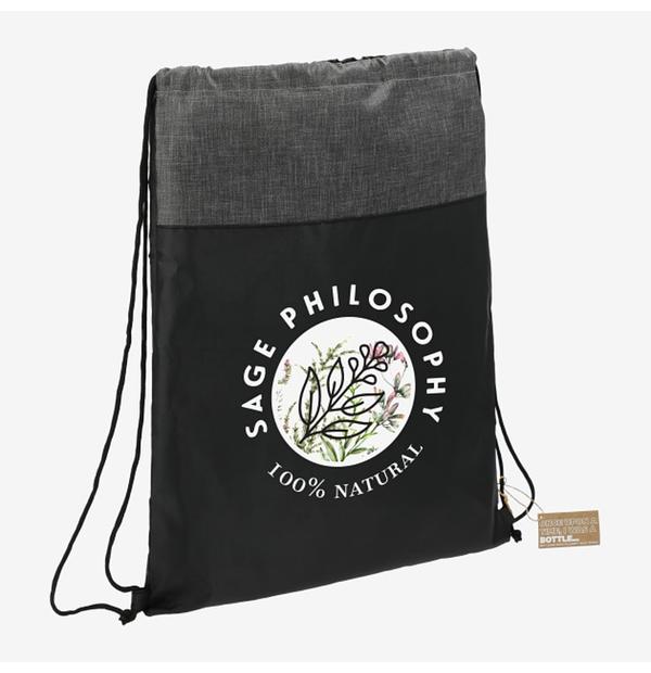 sac à cordon fait de matière recyclé