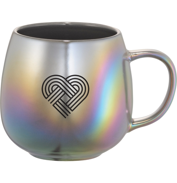 Tasse en céramique iridescente