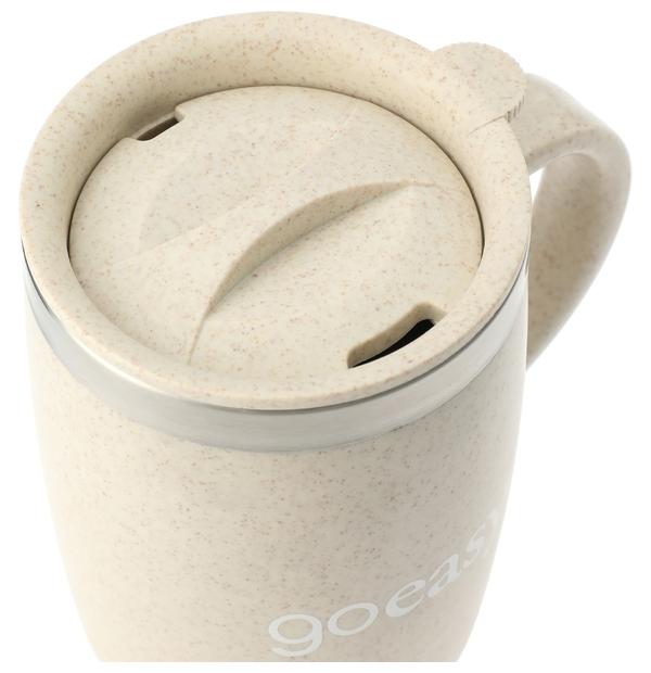 Tasse isolée avec couvercle en tige de paille de blé