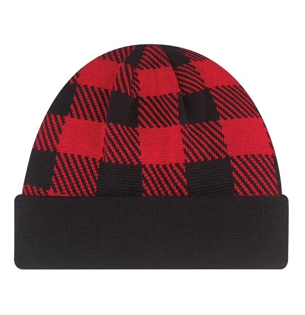 Tuque à carreaux