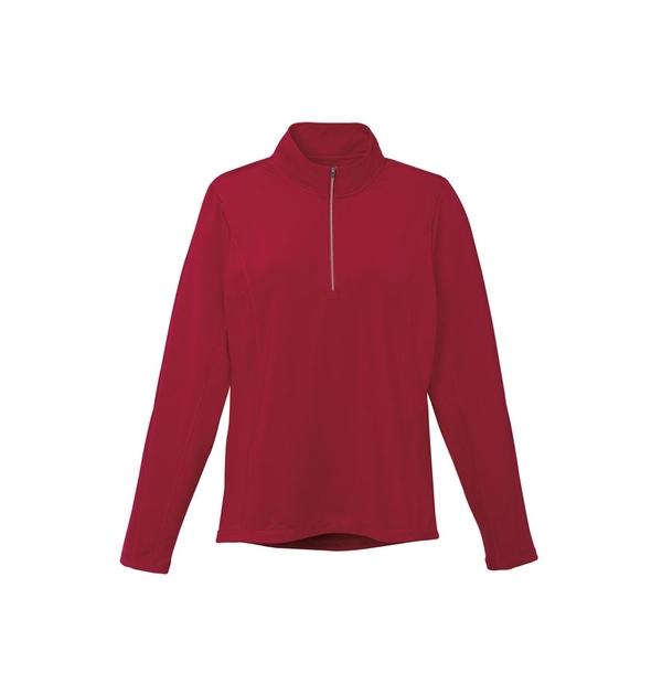 Veste en tricot à glissière 1/4 femme